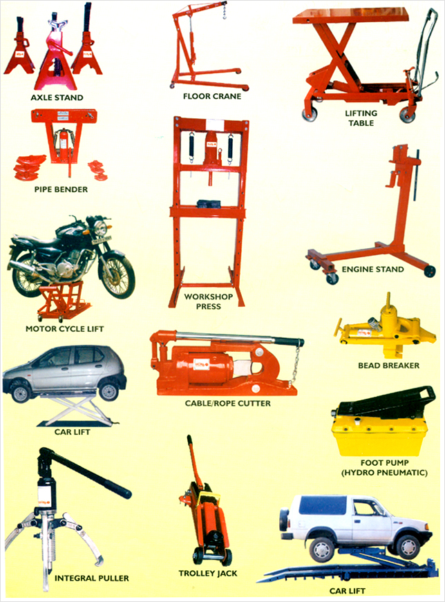 Vankos Hydraulic Garage Equipments